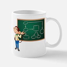 Business monkey and board Mug