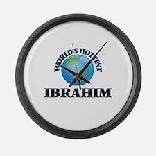 World's Hottest Ibrahim Large Wall Clock
