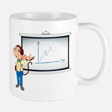 monkey showing white board Mug