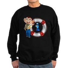 monkey showing float Sweatshirt