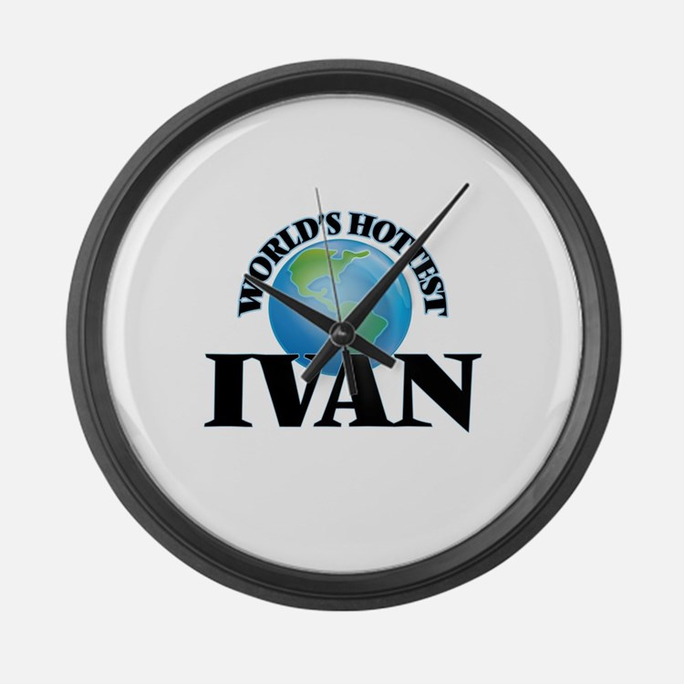 World's Hottest Ivan Large Wall Clock