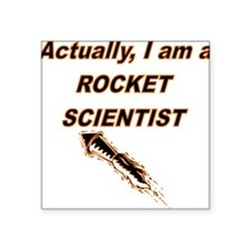 Actually I Am A Rocket Scientist Sticker