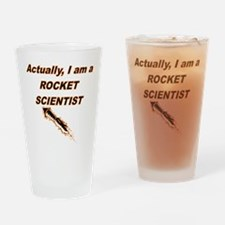 Actually I Am A Rocket Scientist Drinking Glass