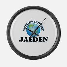 World's Hottest Jaeden Large Wall Clock