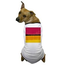 ROTHKO YELLOW BLACK MAGENTA Dog T-Shirt