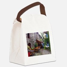 French Cafe Canvas Lunch Bag
