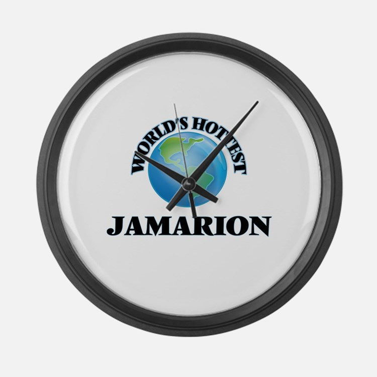 World's Hottest Jamarion Large Wall Clock
