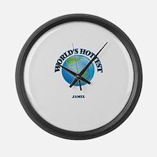 World's Hottest Jamel Large Wall Clock