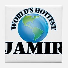 World's Hottest Jamir Tile Coaster