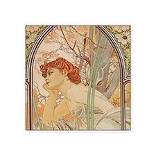 Mucha - Art Nouveau In The Garden Sticker