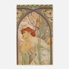 Mucha - Art Nouveau In The Garden 3'x5' Area Rug
