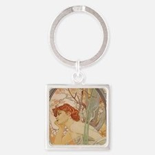 Mucha - Art Nouveau In The Garden Keychains