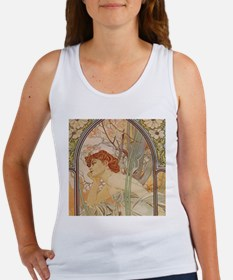 Mucha - Art Nouveau In The Garden Tank Top