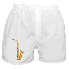A gold saxophone Boxer Shorts