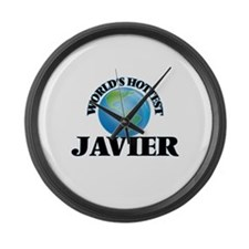World's Hottest Javier Large Wall Clock