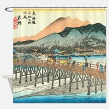 Kyoto by Hiroshige Shower Curtain