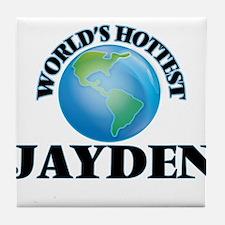 World's Hottest Jayden Tile Coaster