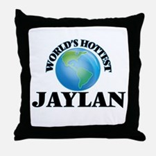 World's Hottest Jaylan Throw Pillow