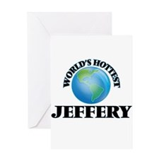 World's Hottest Jeffery Greeting Cards