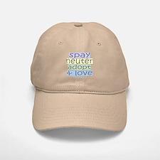 Spay/Neuter/Adopt/Love Baseball Baseball Cap