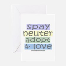 Spay/Neuter/Adopt/Love Greeting Cards (Package of