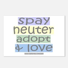 Spay/Neuter/Adopt/Love Postcards (Package of 8)
