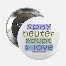 """Spay/Neuter/Adopt/Love 2.25"""" Button (10 pack)"""