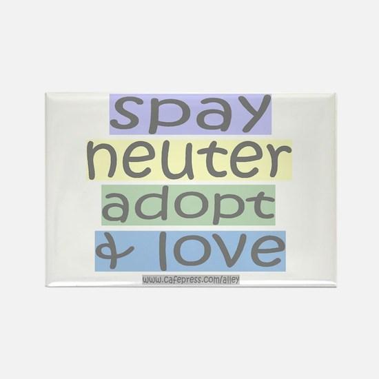Spay/Neuter/Adopt/Love Rectangle Magnet