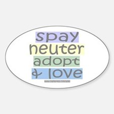 Spay/Neuter/Adopt/Love Oval Decal