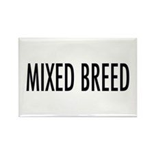 """Pet Word """"Mixed Breed"""" Rectangle Magnet"""