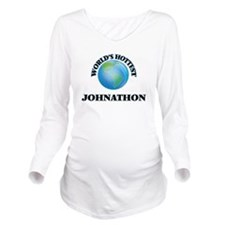 World's Hottest John Long Sleeve Maternity T-Shirt