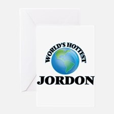 World's Hottest Jordon Greeting Cards