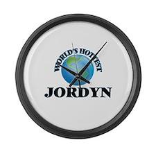 World's Hottest Jordyn Large Wall Clock