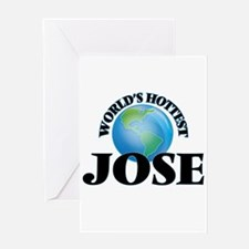 World's Hottest Jose Greeting Cards