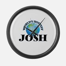 World's Hottest Josh Large Wall Clock