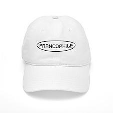 Francophile Black on White Baseball Cap