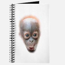 Funny Baby Orangutan Face Journal