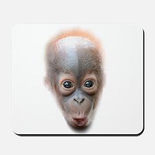 Funny Baby Orangutan Face Mousepad
