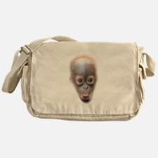 Funny Baby Orangutan Face Messenger Bag