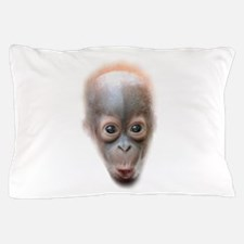 Funny Baby Orangutan Face Pillow Case