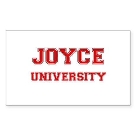 JOYCE UNIVERSITY Rectangle Sticker
