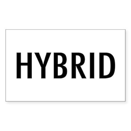 "Pet Word ""Hybrid"" Rectangle Sticker"