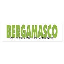 Bergamasco IT'S AN ADVENTURE Bumper Bumper Bumper Sticker