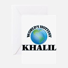 World's Hottest Khalil Greeting Cards