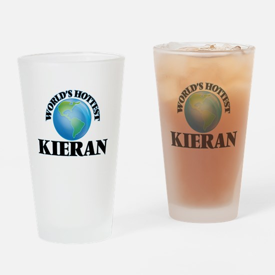 World's Hottest Kieran Drinking Glass