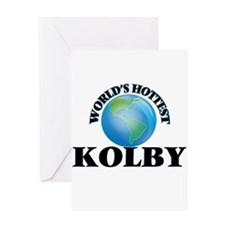 World's Hottest Kolby Greeting Cards