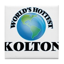 World's Hottest Kolton Tile Coaster