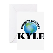 World's Hottest Kyle Greeting Cards