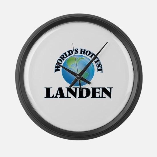 World's Hottest Landen Large Wall Clock