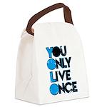 YOLO Blue Canvas Lunch Bag